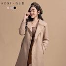 KODZx許允樂-小樂風毛呢編織綁帶長版大衣/外套-S.M.L(共三色)
