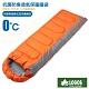 日本 LOGOS 新改款 丸洗 0℃ 0度加長加大抗菌防臭透氣保暖棉被睡袋_桔 product thumbnail 1