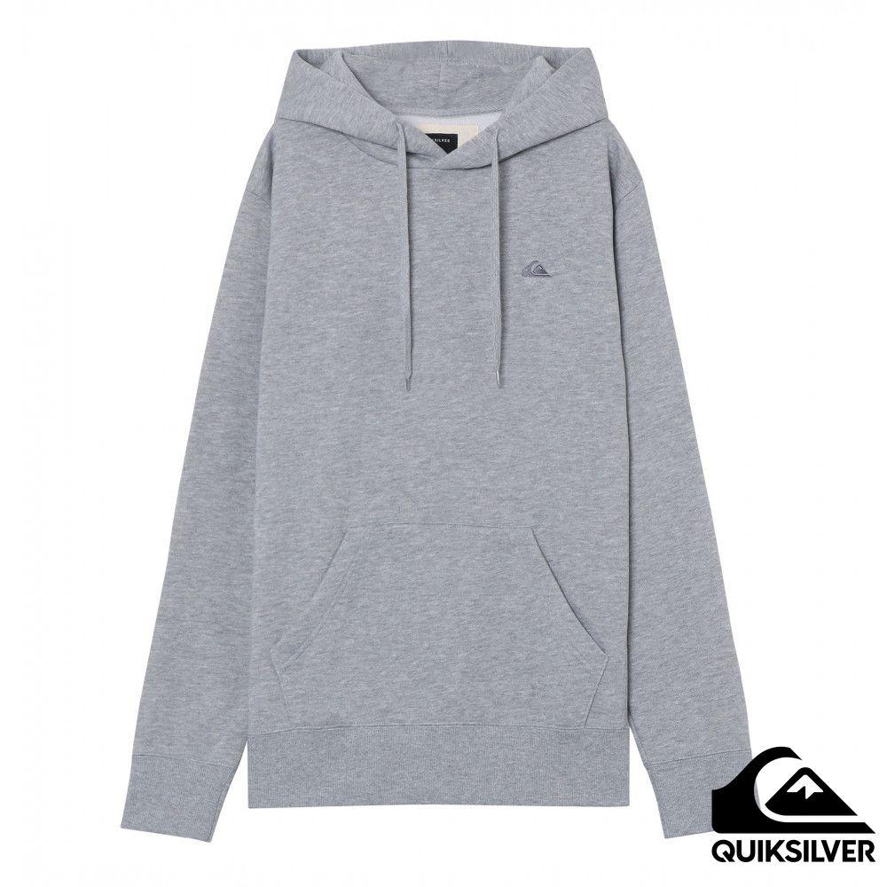 【QUIKSILVER】MW HOOD 內刷毛帽T 灰