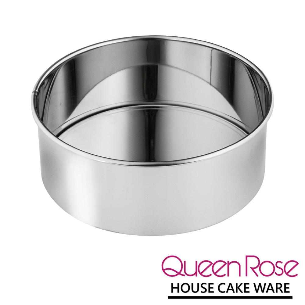 日本霜鳥QueenRose 18.5cm活動式不鏽鋼圓型蛋糕模-(M)-日本製