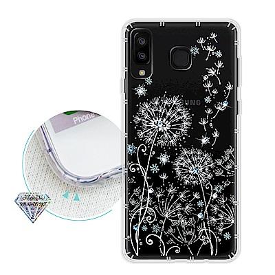 浪漫彩繪 Samsung Galaxy A8 Star 水鑽空壓氣墊手機殼(風信...