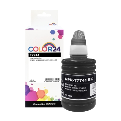 Color24 for Epson T774100/140ml 黑色防水相容連供墨水