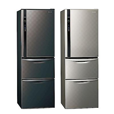 [無卡分期12期]Panasonic國際牌 三門 變頻 電冰箱 NR-C389HV