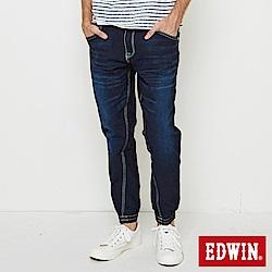 EDWIN JERSEYS 迦績快乾束口九分褲-男-原藍磨
