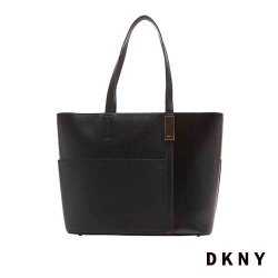 DKNY 時尚簡約肩背手提包 黑
