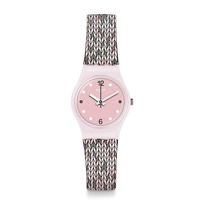 Swatch TRICO PINK 柔美針織手錶
