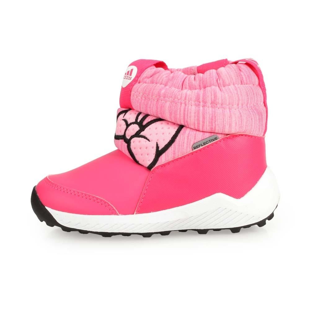 ADIDAS 小童保暖短筒靴 Minnie I 桃紅粉黑