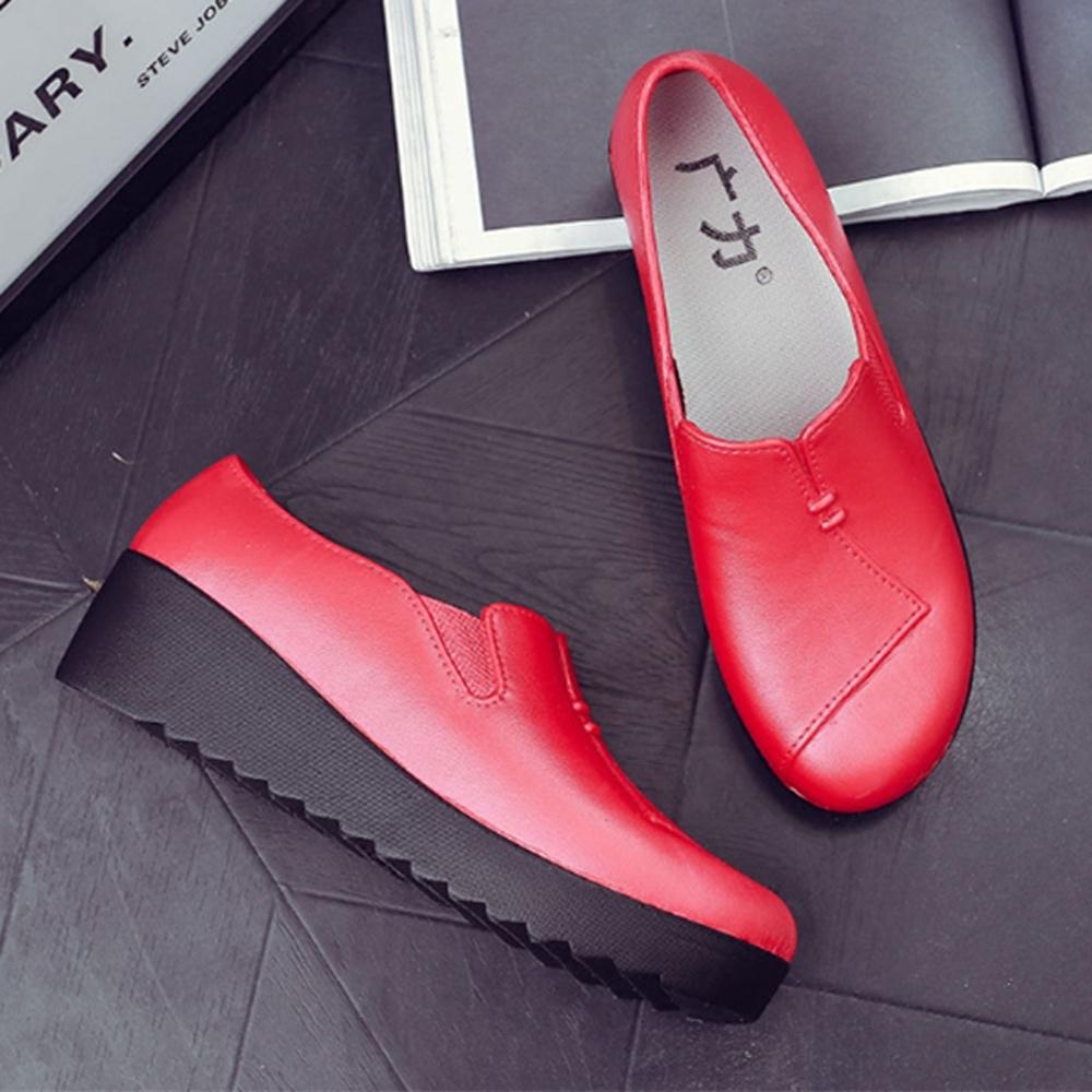 韓國KW美鞋館-波希米亞素色防水輕量平底雨鞋 紅