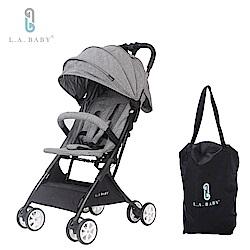 L.A. Baby   隨行迷你嬰兒手推車(藍 灰 黑 紅)