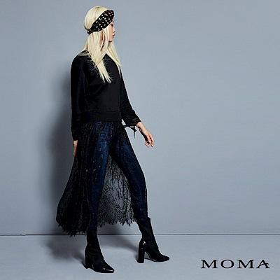 MOMA 蕾絲拼接長版上衣