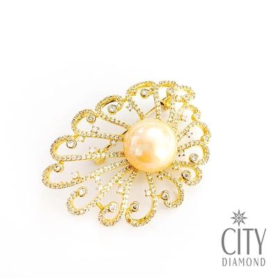 City Diamond 引雅 氣質珍珠墜子 耳環 胸針