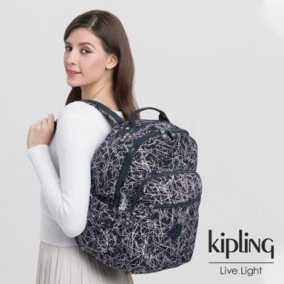 Kipling 英式粉漆塗鴉機能手提後背包-SEOUL