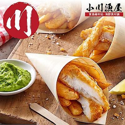 小川漁屋 香酥黃金巴沙魚排8片(100g±10%片)