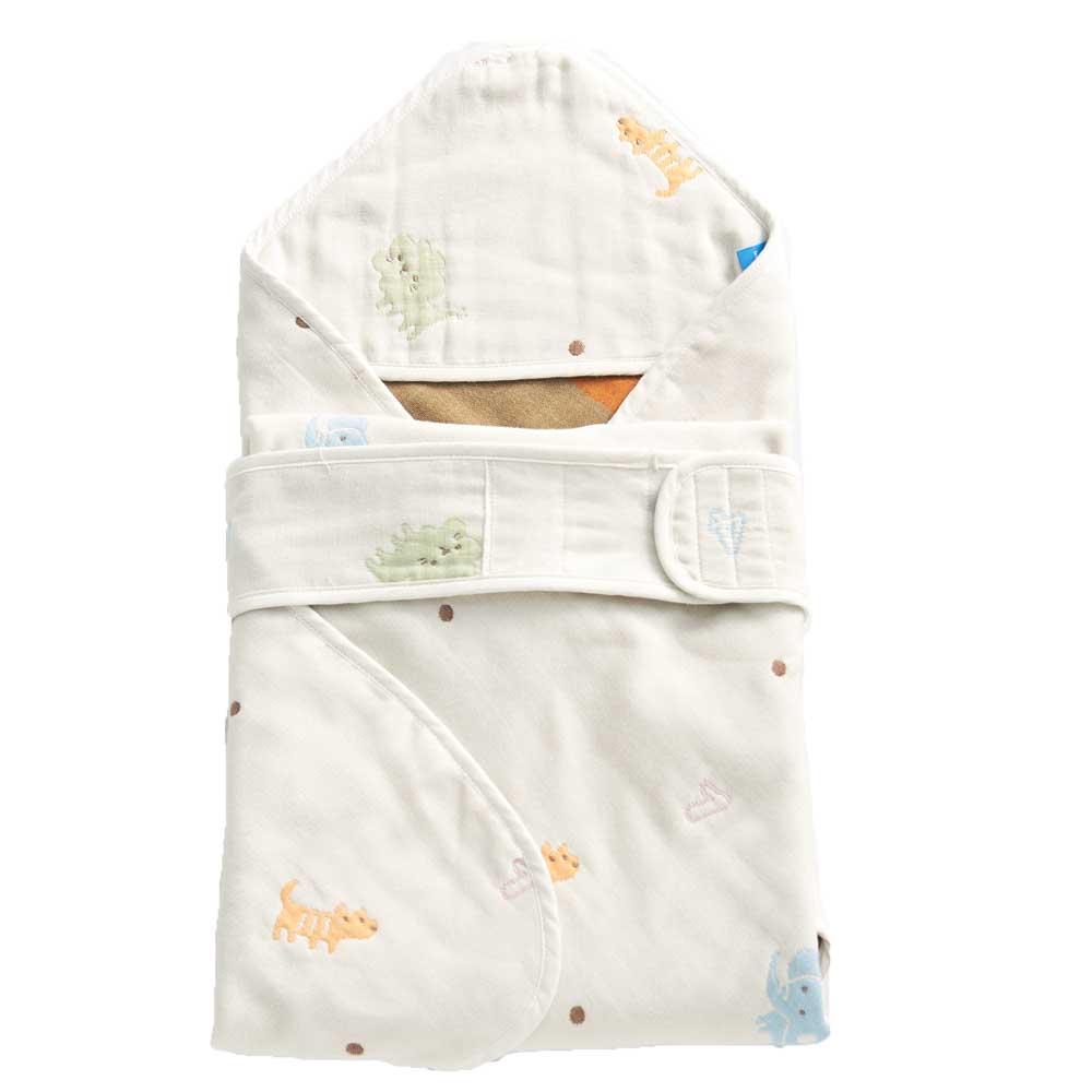 【les enphants】麗嬰房 六層紗數字動物園包巾