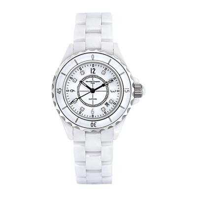 Valentino Coupeau 范倫鐵諾 古柏 精密陶瓷腕錶-白陶/39mm
