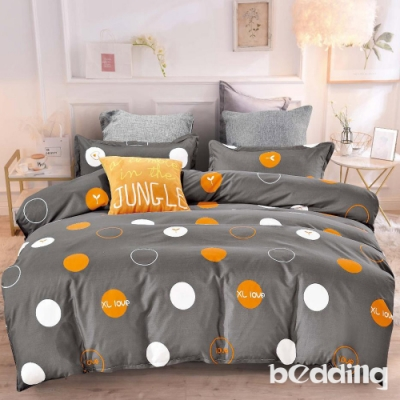 BEDDING-活性印染-特大6x7薄式床包枕套三件式-魔力圈圈