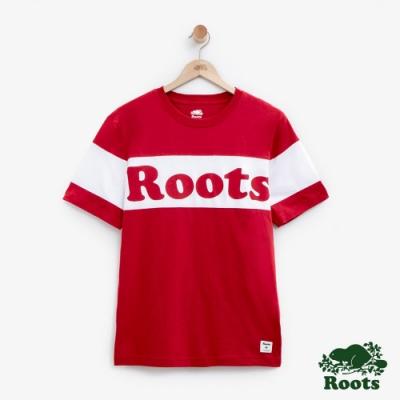 男裝Roots 加拿大短袖T恤-紅色