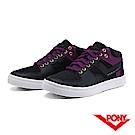 【PONY】Atop 系列-復古滑板鞋款-女-紫黑