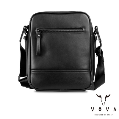 VOVA 公爵系列職人直式斜背包-貴族黑