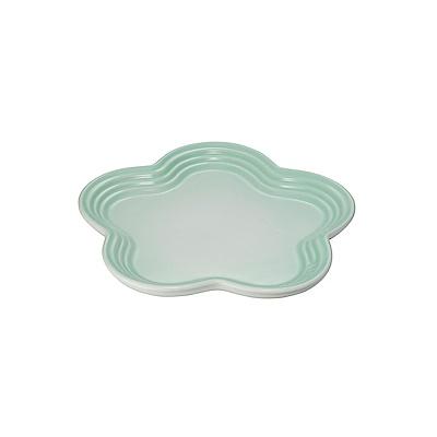 LE CREUSET瓷器花型盤19cm(冰川綠)