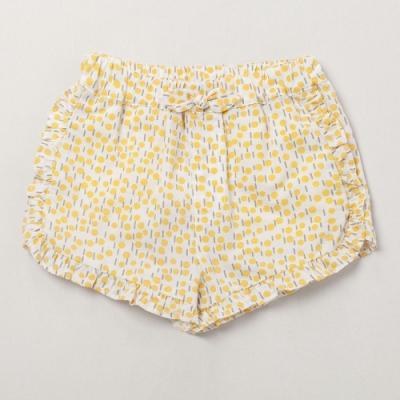 PIPPY 夏日暖陽花花點點短褲 黃