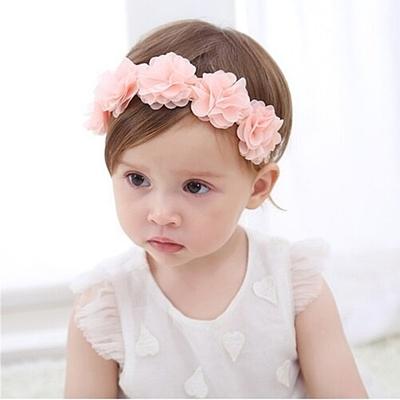 Baby童衣 寶寶頭飾 氣質甜美蕾絲花朵髮帶 88176
