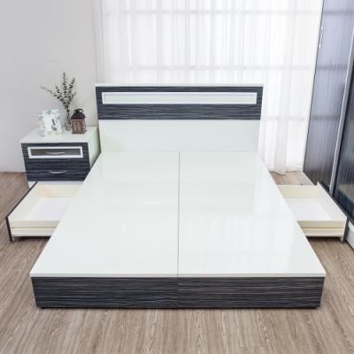 Birdie南亞塑鋼-3.5尺單人二抽屜收納塑鋼床底(不含床頭片)(鐵刀木色)