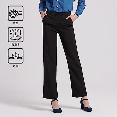 GIORDANO 女裝腰鬆緊抽繩機能防風長褲-08 經典黑