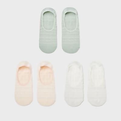 6IXTY8IGHT棉質隱形踝襪3雙入8F1米白色 AC03487