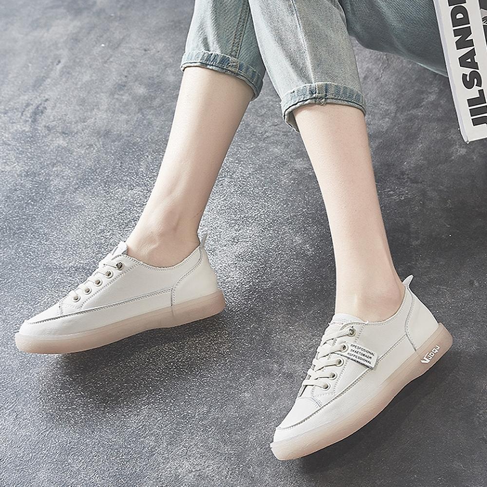 LN 現+預 牛筋軟底小白鞋-3色 (米白)