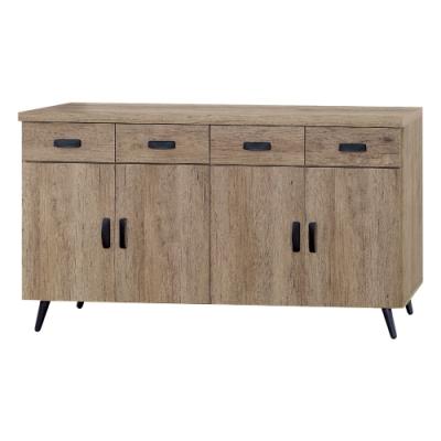 Boden-約夏5尺工業風收納餐櫃/碗盤櫃/電器櫃-151x40x78cm