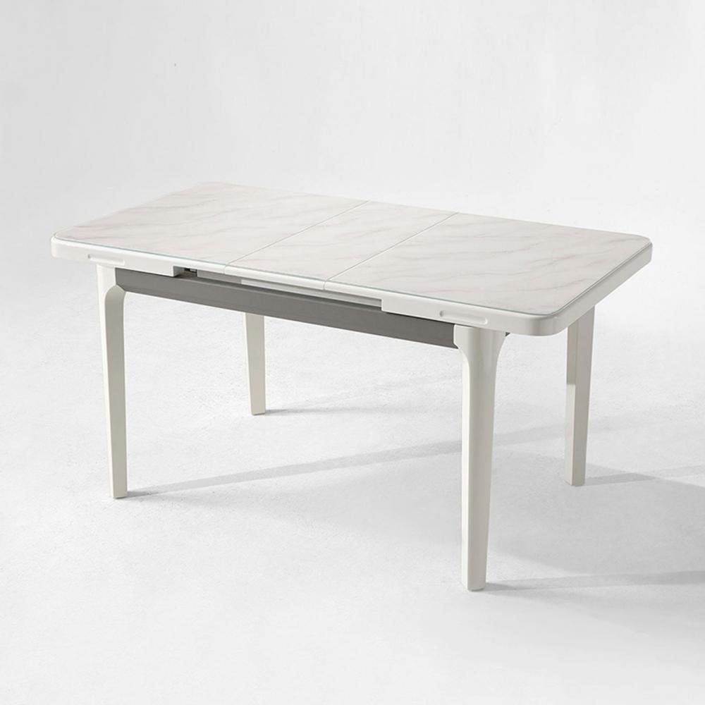hoi! 現代風大理石紋可伸縮長餐桌 LS058 -灰白色 (H014262273)