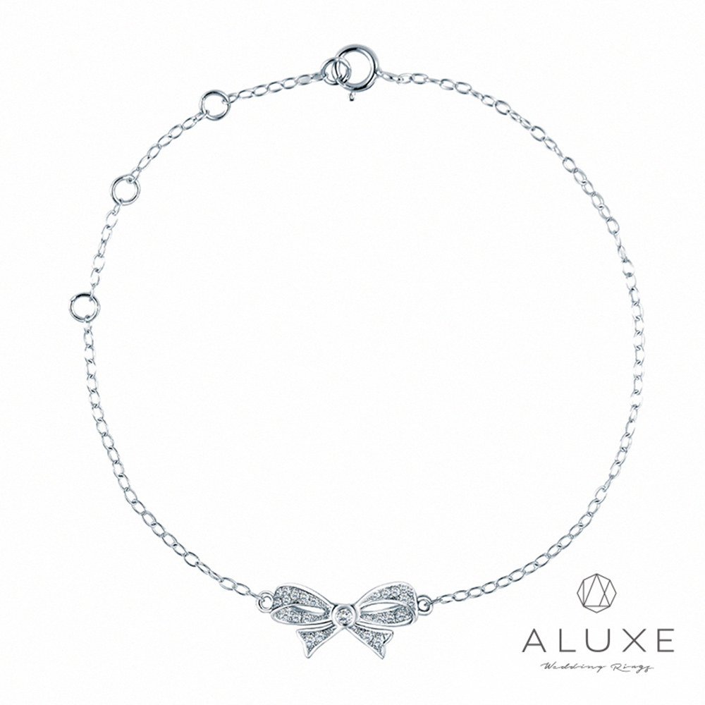 ALUXE亞立詩18K金 緞帶鑽石手鍊