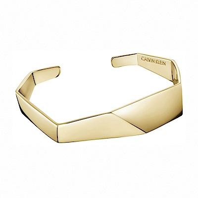 CALVIN KLEIN Origami 系列香檳金手環-XS