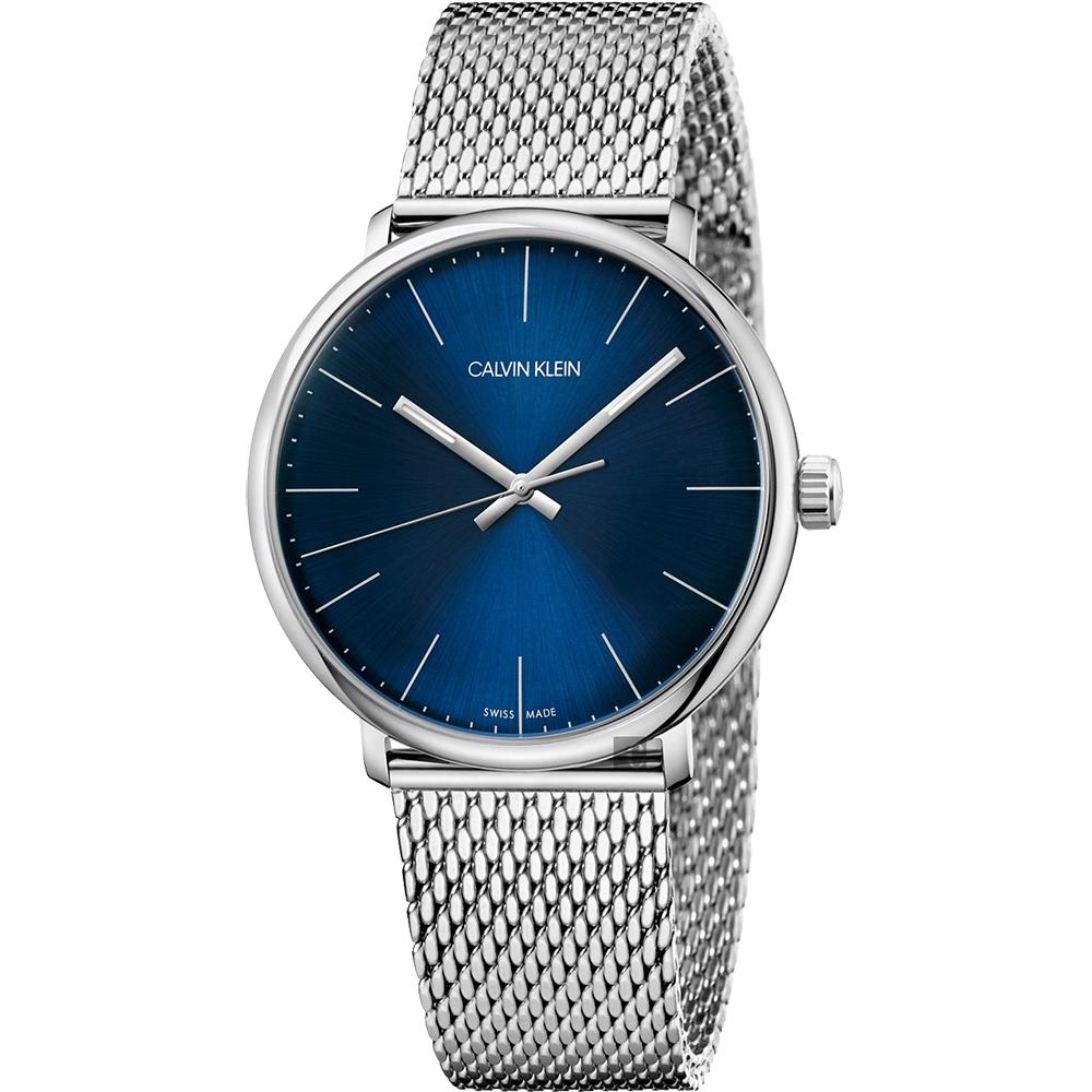 Calvin Klein CK High Noon 米蘭帶手錶-藍/40mm