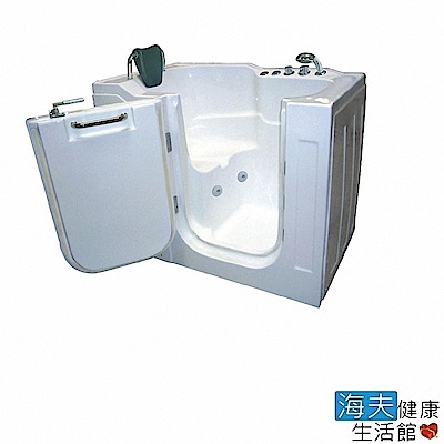 海夫健康生活館 開門式浴缸 104-T 恆溫水柱按摩款 (130*80*104cm)