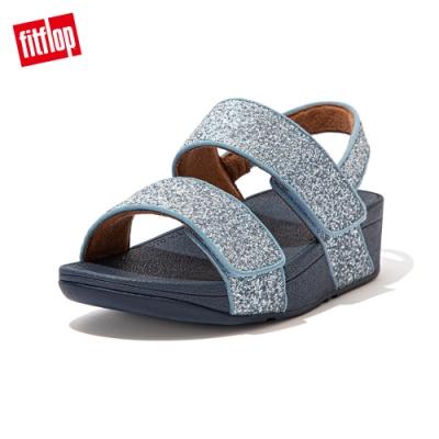 【FitFlop】MINA GLITTER MIX BACK-STRAP SANDALS後帶涼鞋-女(瓷藍色)