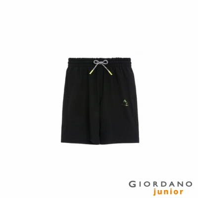 GIORDANO 童裝3M輕薄抽繩短褲 - 39 標誌黑