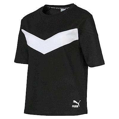 PUMA-女性流行系列XTG短袖T恤-黑色-歐規