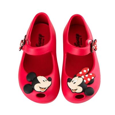 迪士尼童鞋  米奇米妮  防水立體造型公主鞋-紅