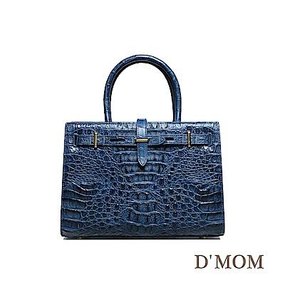DMOM絕世女伶鱷魚手提包-藍
