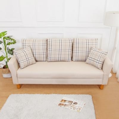 Boden-米洛克貓抓皮沙發三人椅/三人座(送抱枕)(二色可選)
