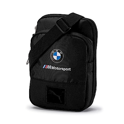 PUMA-男女BMW M小側背包-黑色