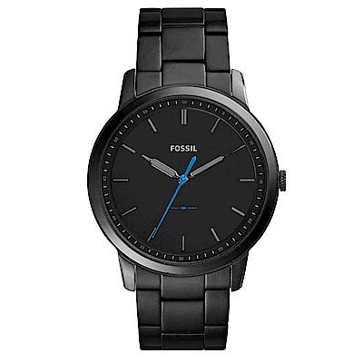 FOSSIL 睿智思維薄型鋼帶男錶(FS5308)-黑x44mm