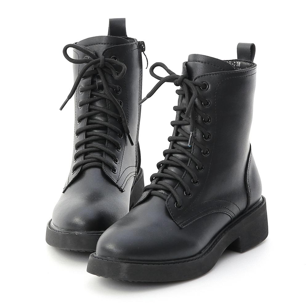 D+AF 街頭型人.加厚鞋底中筒馬汀靴*黑