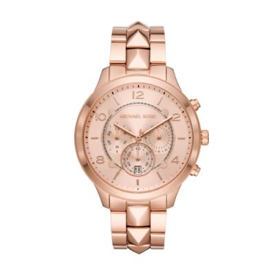 MICHAEL KORS經典三眼玫瑰金腕錶MK6713
