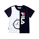 FILA KIDS #WONNIE系列小童圓領TEE-丈青1TET-8456-NV