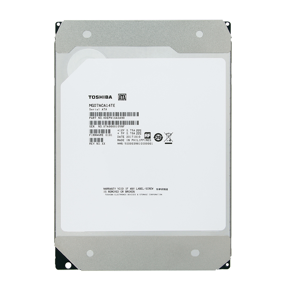 Toshiba 3.5吋 14TB 7200RPM/256MiB SATA3 企業級硬碟