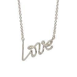 Tiffany&Co. PALOMA S GRAFFITI LOVE英文字母純銀項鍊