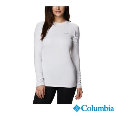 Columbia 哥倫比亞 女款- Omni HEAT 鋁點保暖快排內著上衣- 白色 UAL67630WT